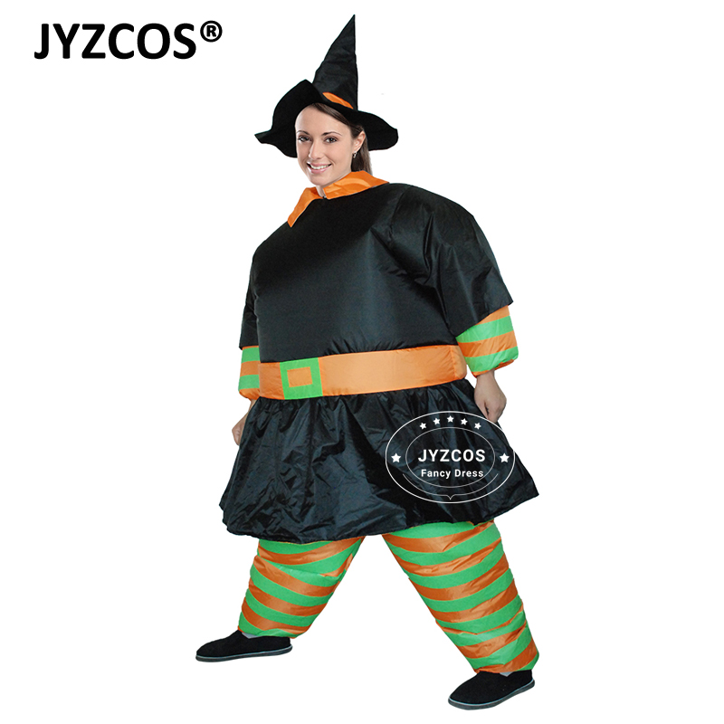 Inflatable Costume Blow Up Pumpkin with Hat Halloween Cosplay Fancy Dress