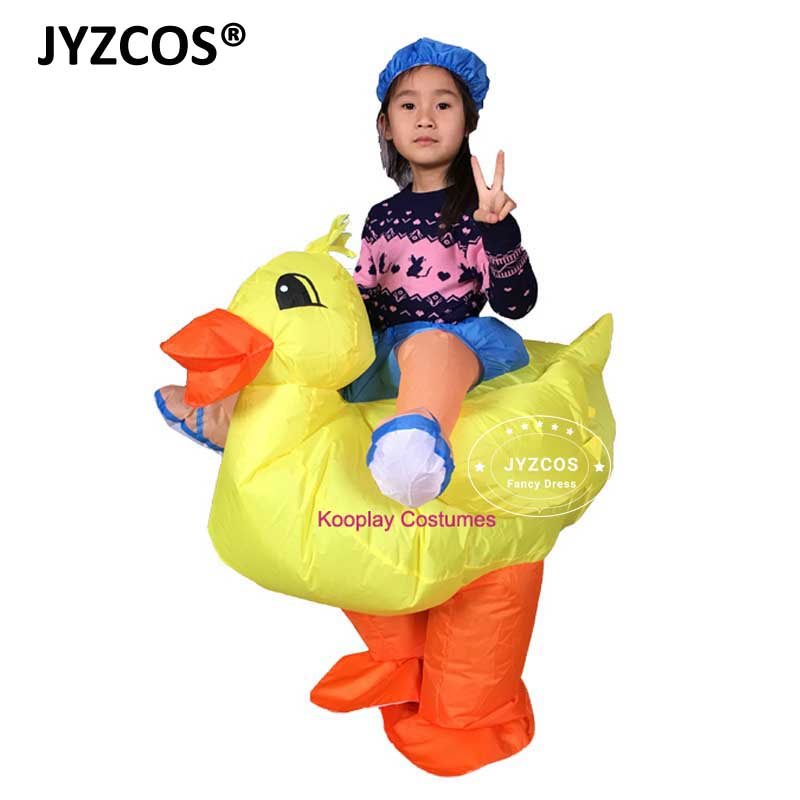 5afdacb5c2e2 JYZCOS Halloween Costumes Inflatable Duck Costumes for Kids Fancy Dress  Outfit