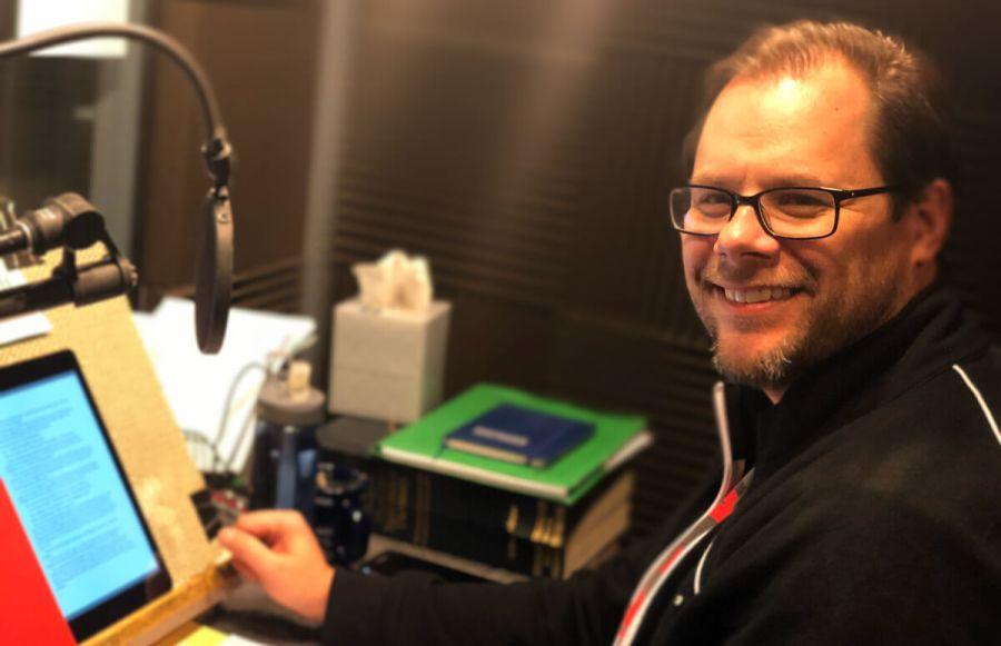 Doug Tisdale Jr. in the Recording Studio reading Son of a Liche