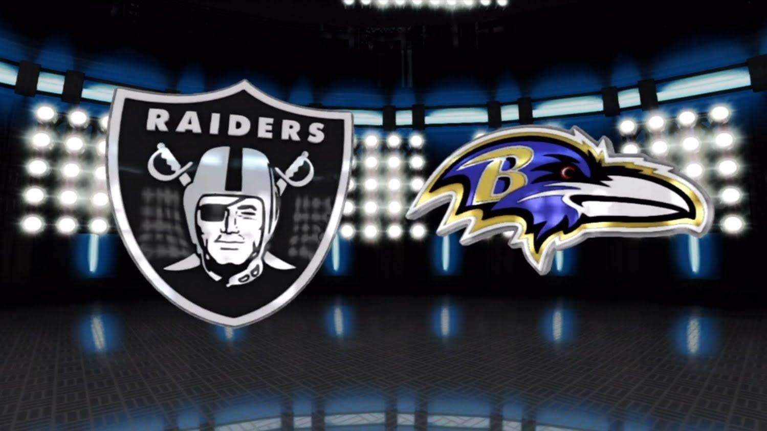 Image result for Oakland Raiders vs. Baltimore Ravens