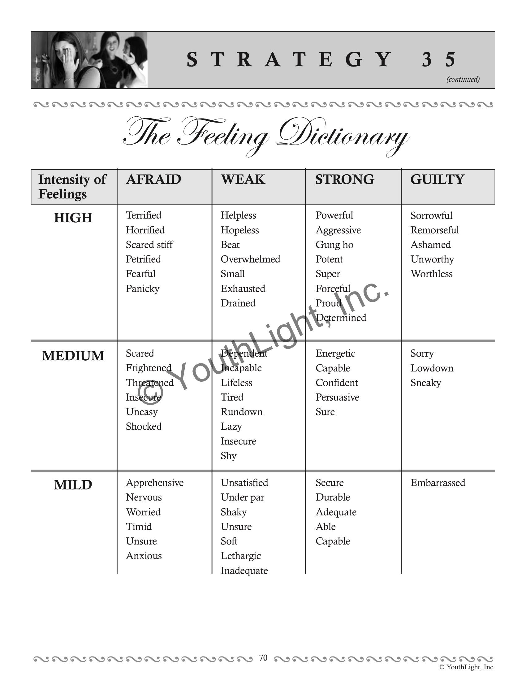 Relational Aggression Worksheet