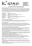 Nieuwsbrief maart 2016 Leiden