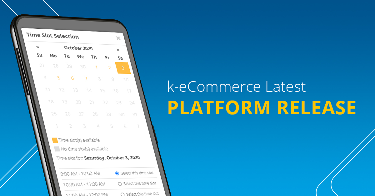 k-eCommerce Latest Platform Release