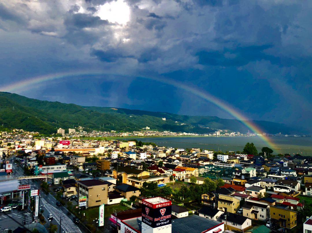 下諏訪町 虹