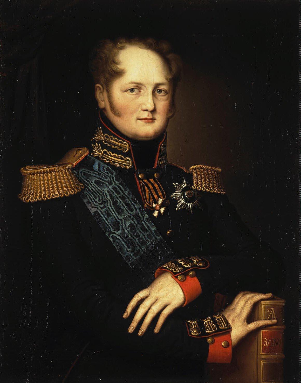 Император Александр I. Автор неизвестен, 1811-1812. Runivers.Ru