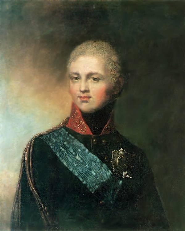 ортрет Александра I в юности. Художник Дмитрий Левицкий, 1772