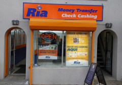Ria Money Transfer • Check Cashing