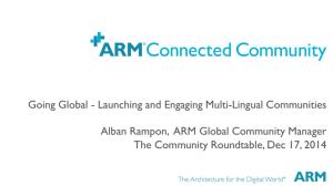 Going Global Launching Engaging Multi Lingual Communities