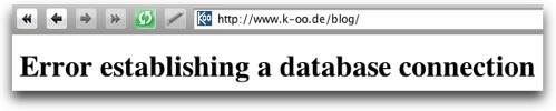 Datenbank Fehler