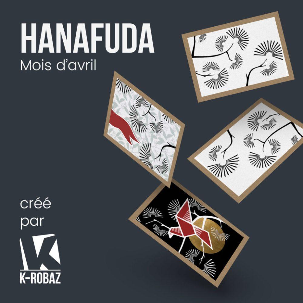 Jeu de carte Hanafuda : mois d'avril