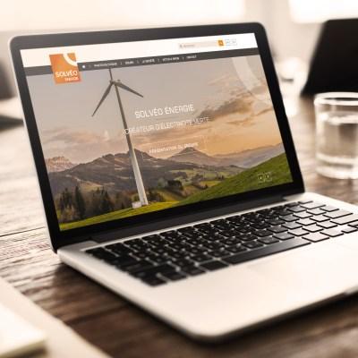 Proposition de webdesign pour le site internet de Solveo Energie