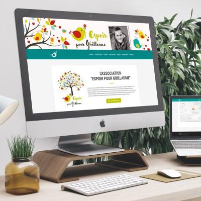 """Webdesign et intégration du site internet """"Espoir pour Guillaume"""" (association)"""