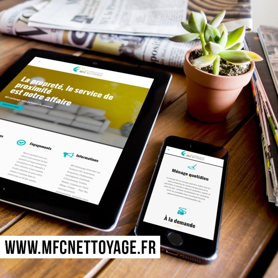 Webdesign et intégration du site internet MFC Nettoyage