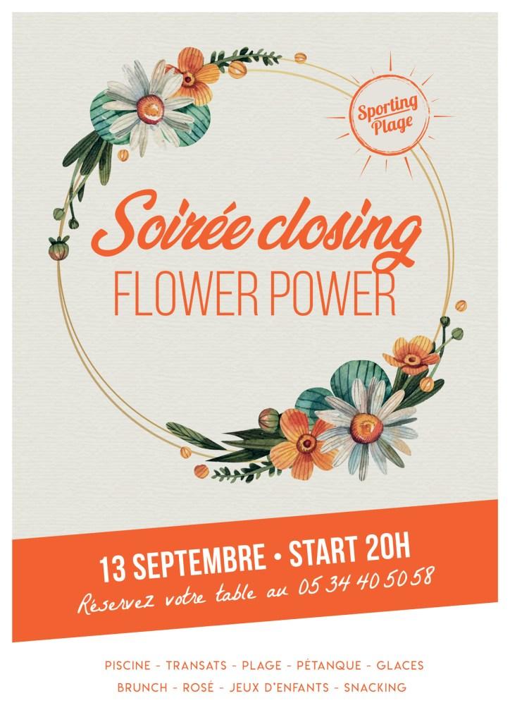 """Affiche soirée """"Closing"""" proposition 2"""