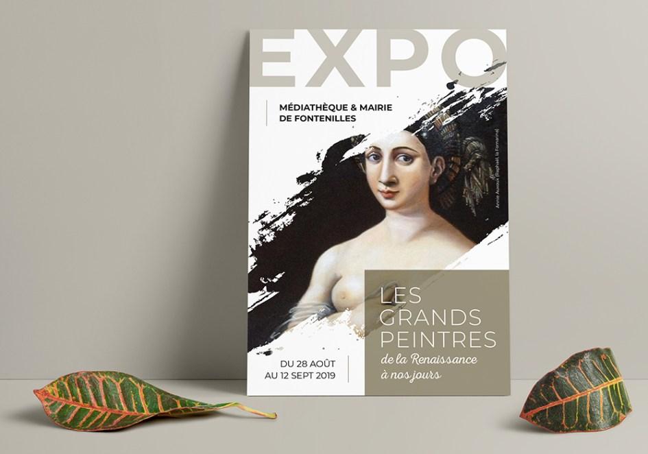 Flyer expo Les grands peintres