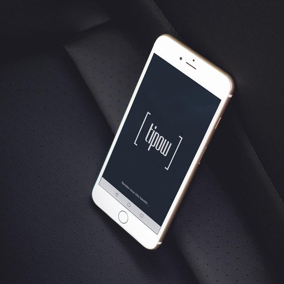 Mockup smartphone landing page