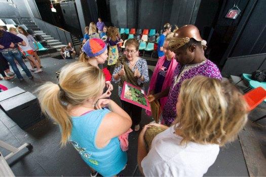 Sue Bailey facilitates students in Drama Therapy