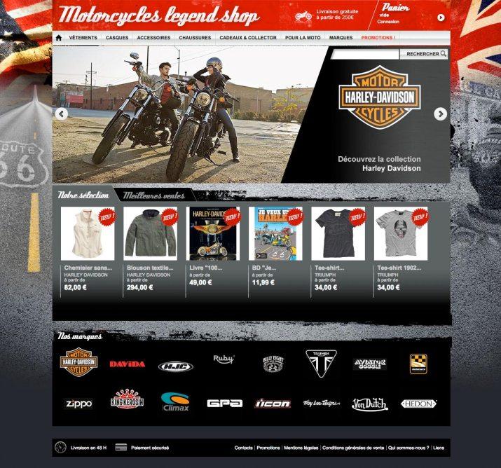 Boutique en ligne d'accessoires pour motard