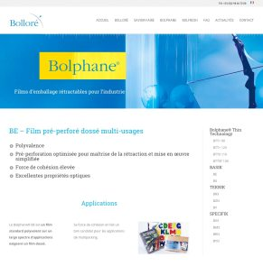 Site internet Bolphane
