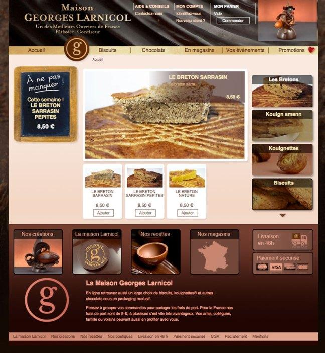 site e-commerce LARNICOL
