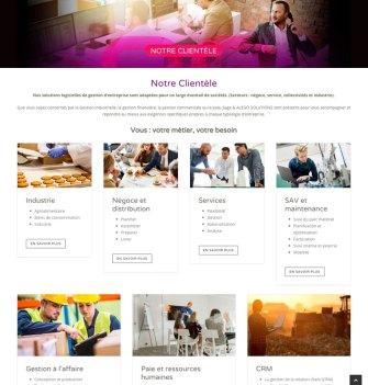 site wordpress Alego