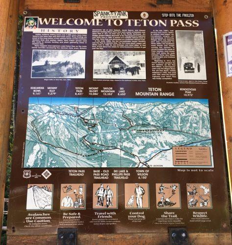 Teton Pass sign