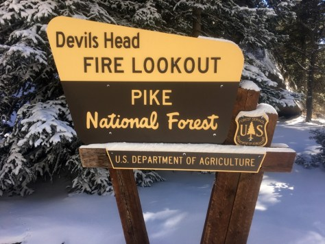 Devils Head Fire Lookout Sign