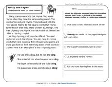 Poem comprehension for grade 2 poemdocor poetry uses rhyme 2nd grade reading comprehension worksheets ibookread ePUb