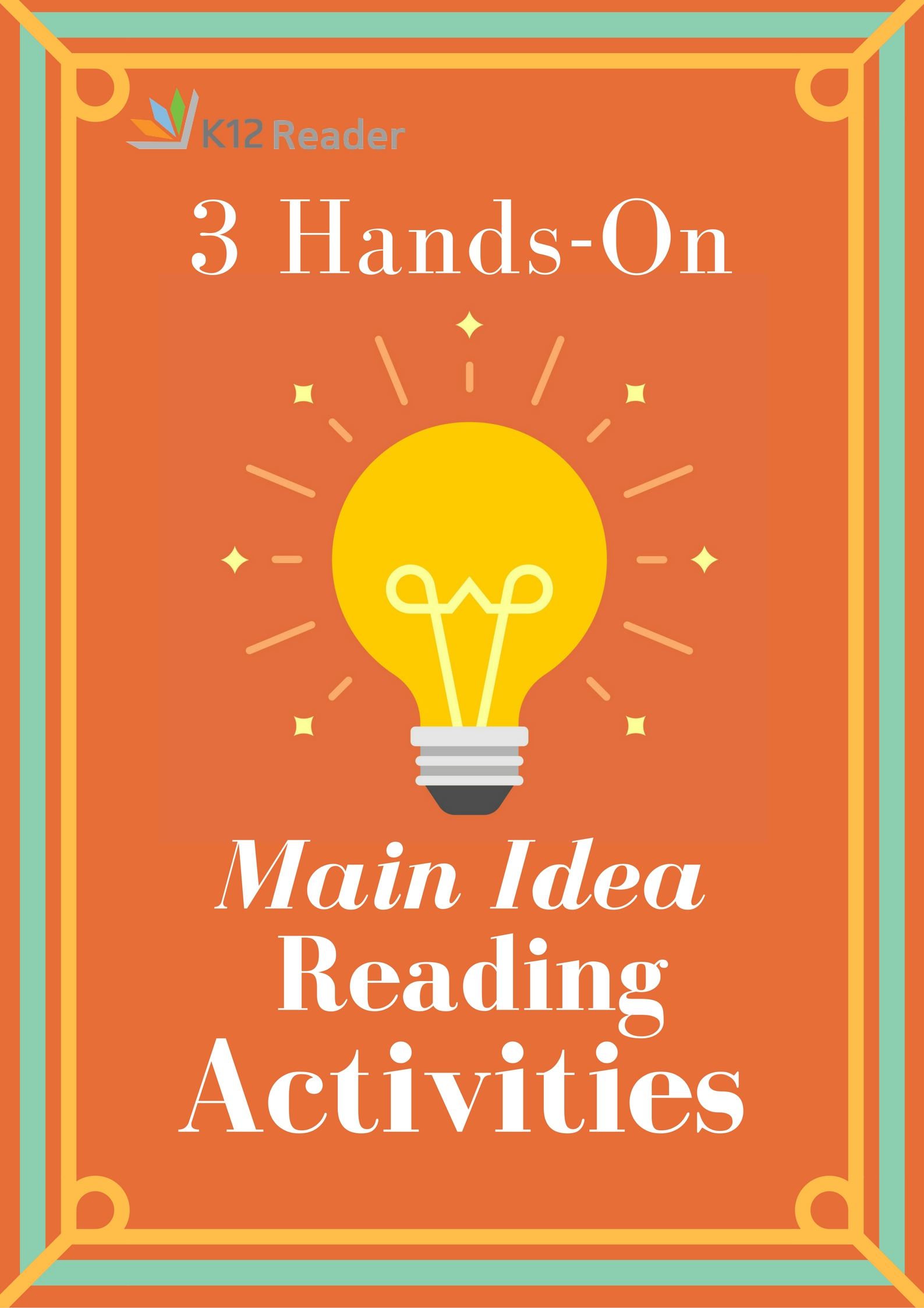 Three Hands On Activities For Teaching The Main Idea Of A