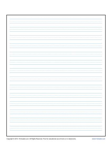Champlain College Publishing  Lined Stationary Paper