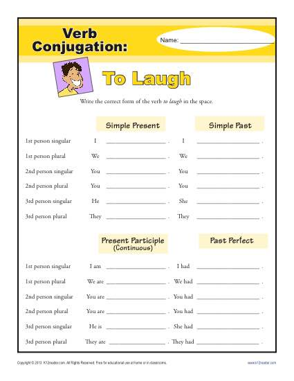 Laugh Verb 2nd Form