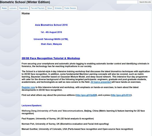 Biometric School (Winter Edition)