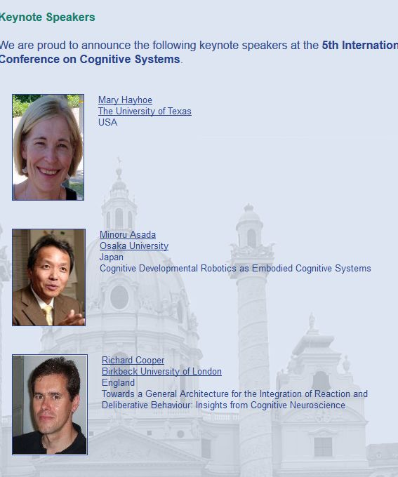 Cognitive Systems Conference 2012