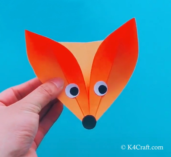 How to make the paper fox craft supplies: Make Paper Fox Craft For Kids 11 K4 Craft