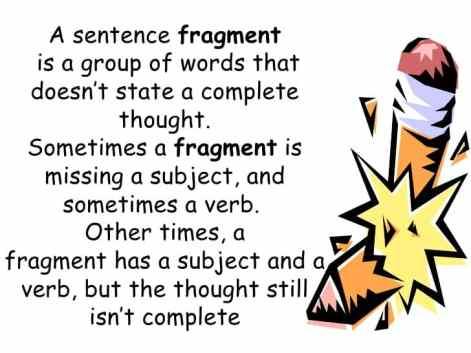 Image result for fragmented sentences