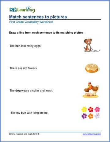 First Grade Vocabulary Worksheets – printable and ...