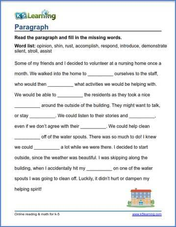 Grade 4 Vocabulary Worksheets – printable and organized by ...