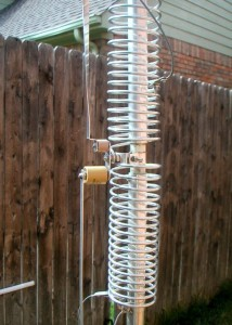 Butternut HF2V with the 80 and 40 meter coils