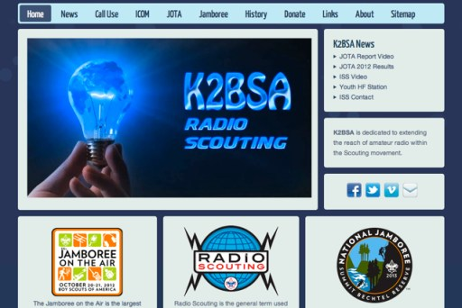Old K2BSA Website Design