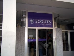 Entrance to the World Scout Bureau Office