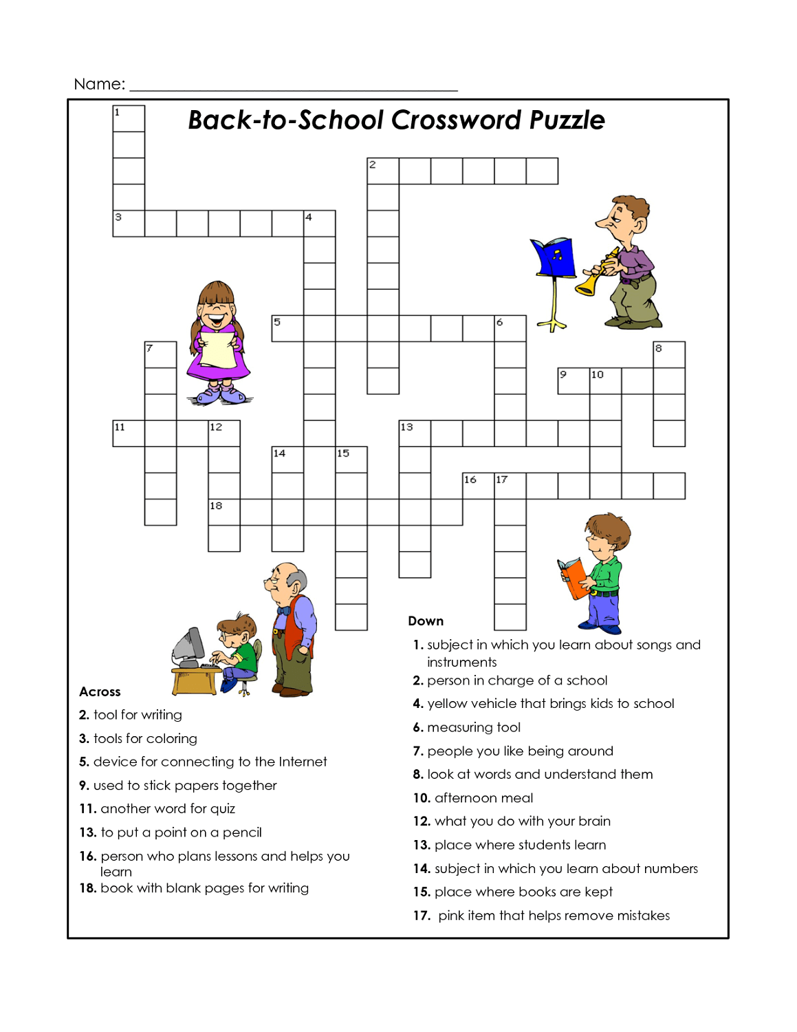 Cross Word Puzzles For Kids