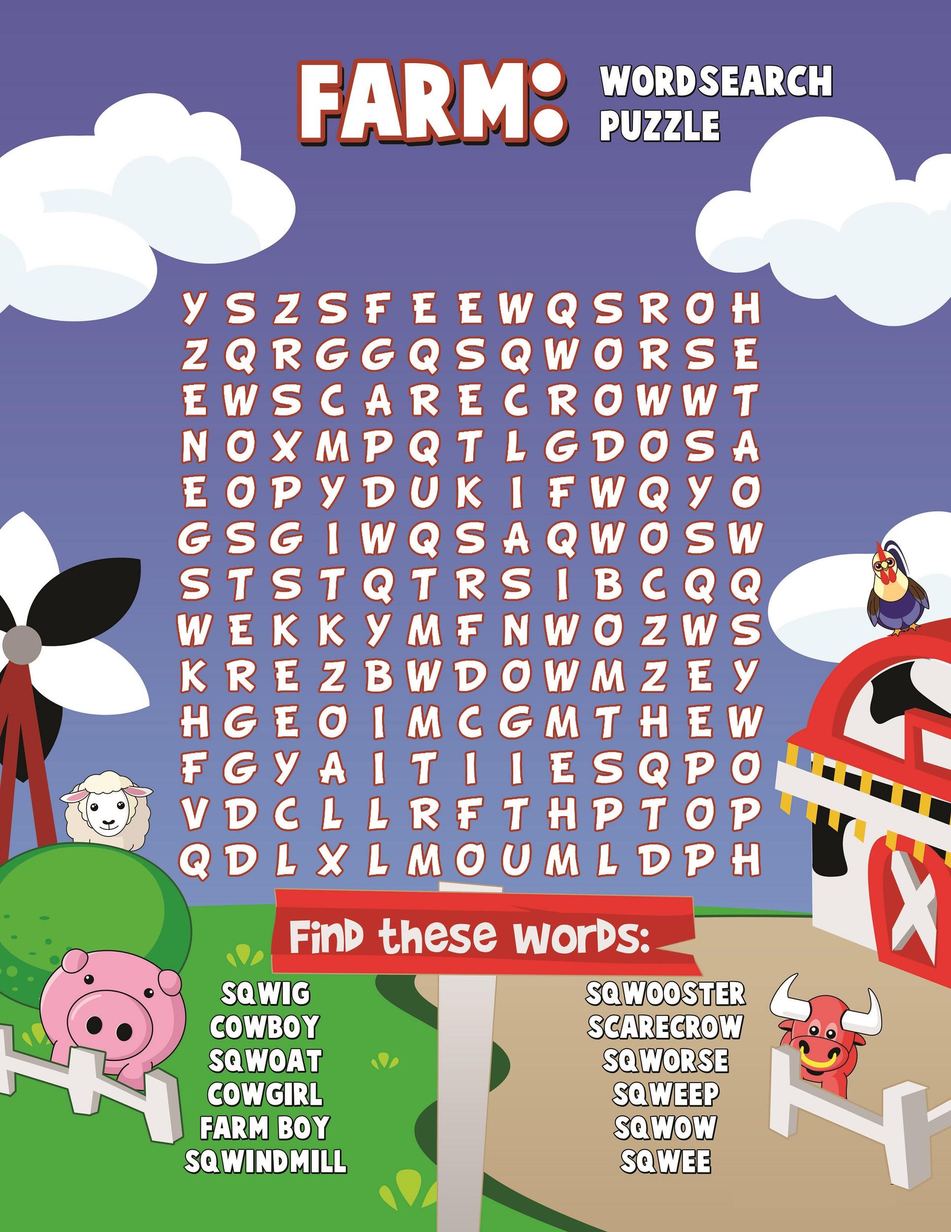Printable Farm Word Search