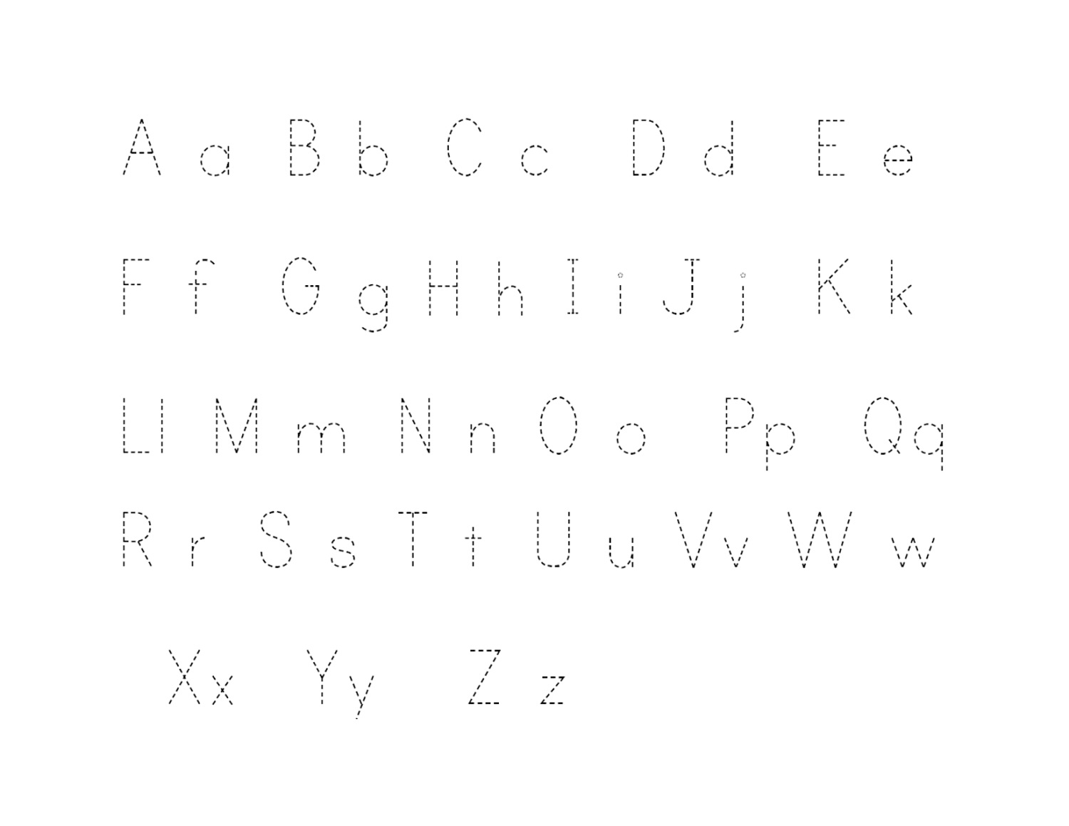 Free Traceable Alphabet