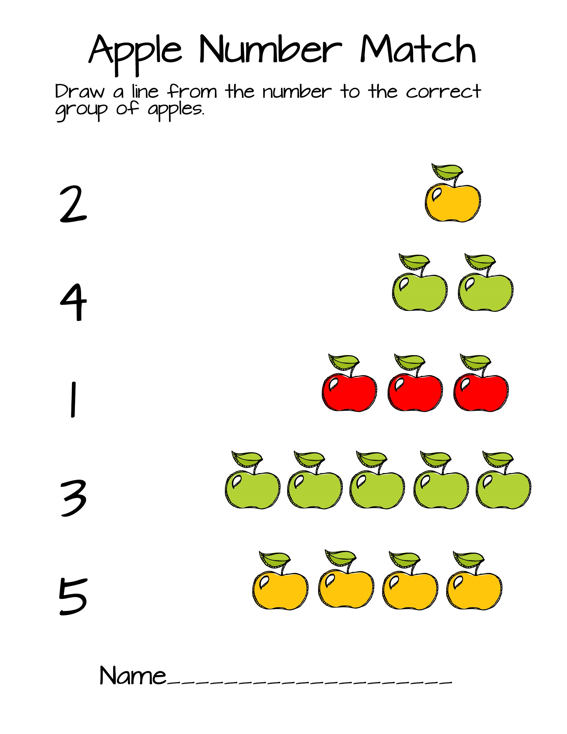 Printable Apple Counting Worksheet