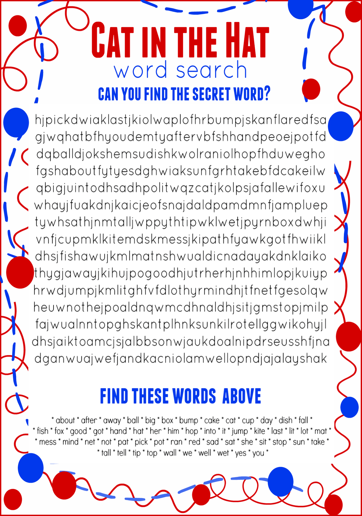 6th Grade Free Word Search Worksheets