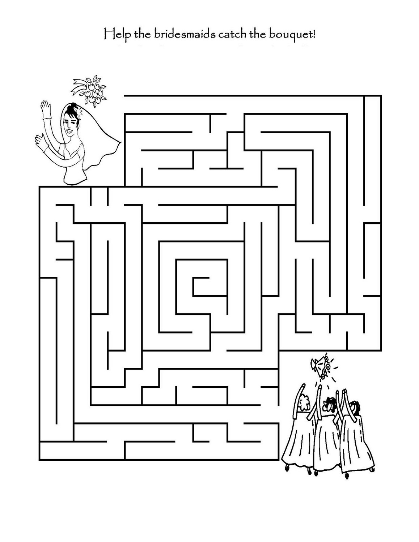 Kids Activity Sheets Maze