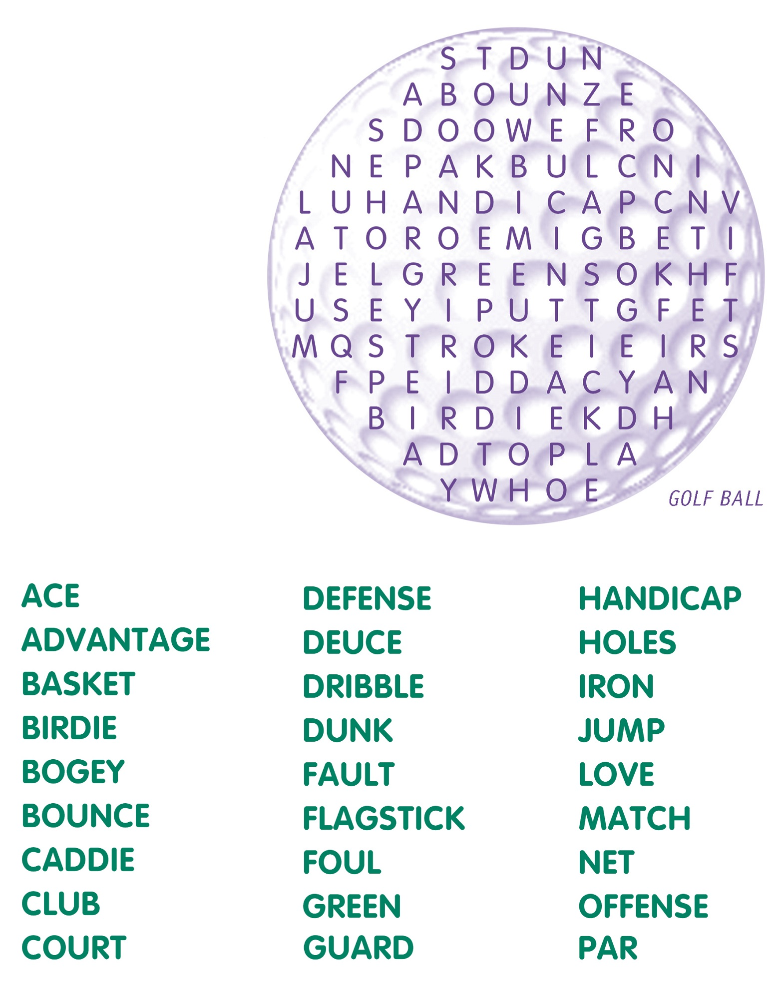 Word Search Puzzles For Kids To Print