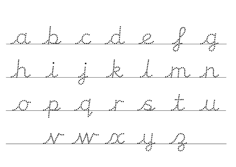 Traceable Alphabet Letters