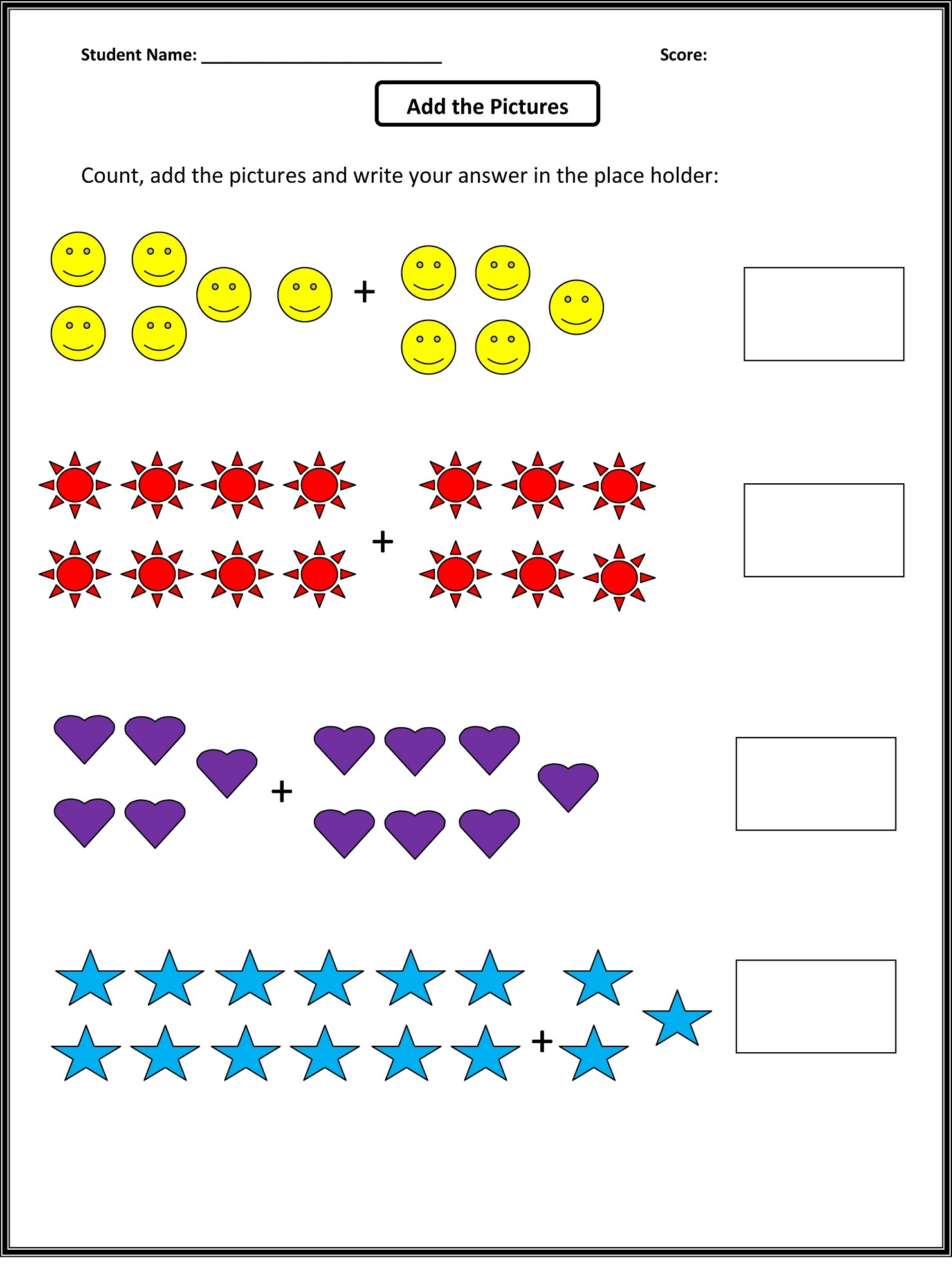 Math K5 Worksheets