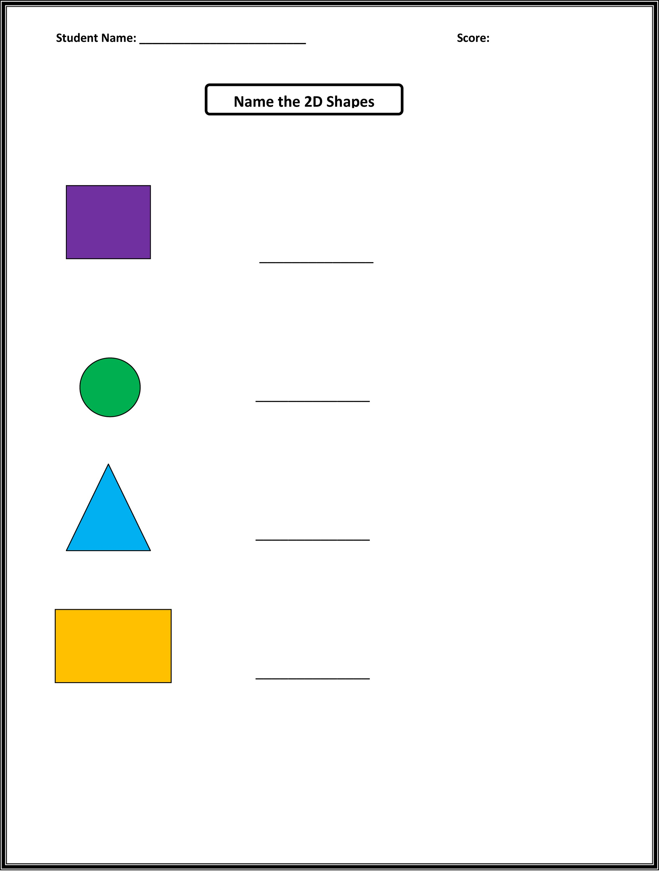 Volume Math Shapes Worksheet